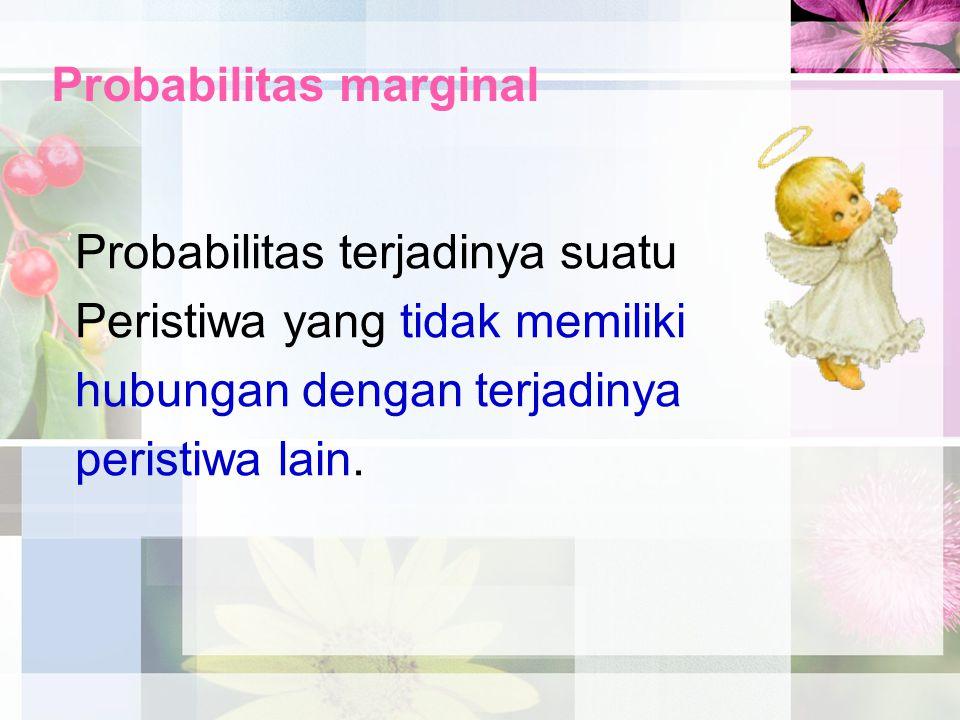 Probabilitas marginal