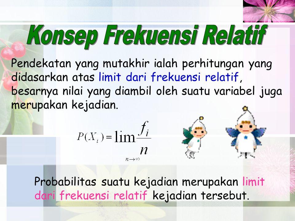 Konsep Frekuensi Relatif