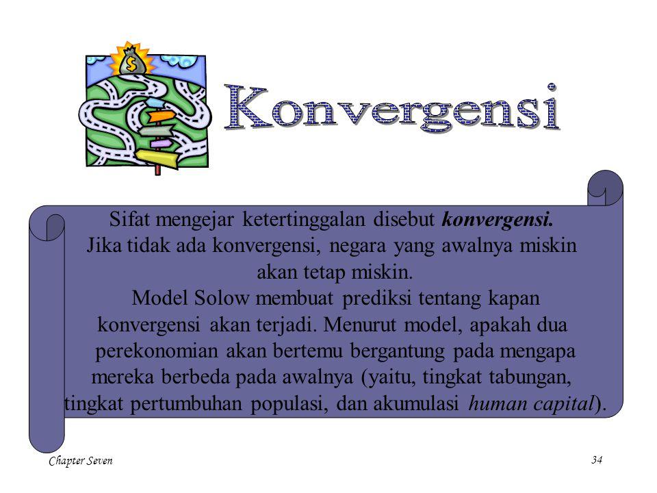 Konvergensi Sifat mengejar ketertinggalan disebut konvergensi.