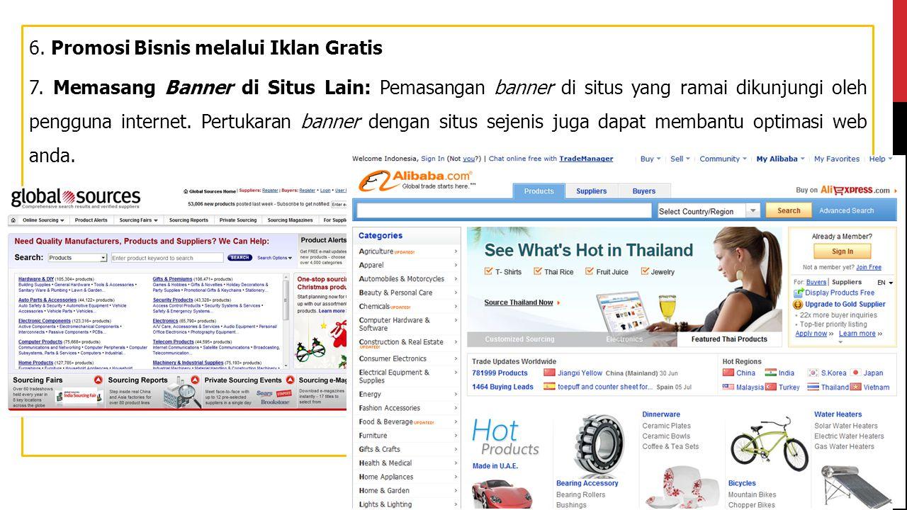 6. Promosi Bisnis melalui Iklan Gratis 7