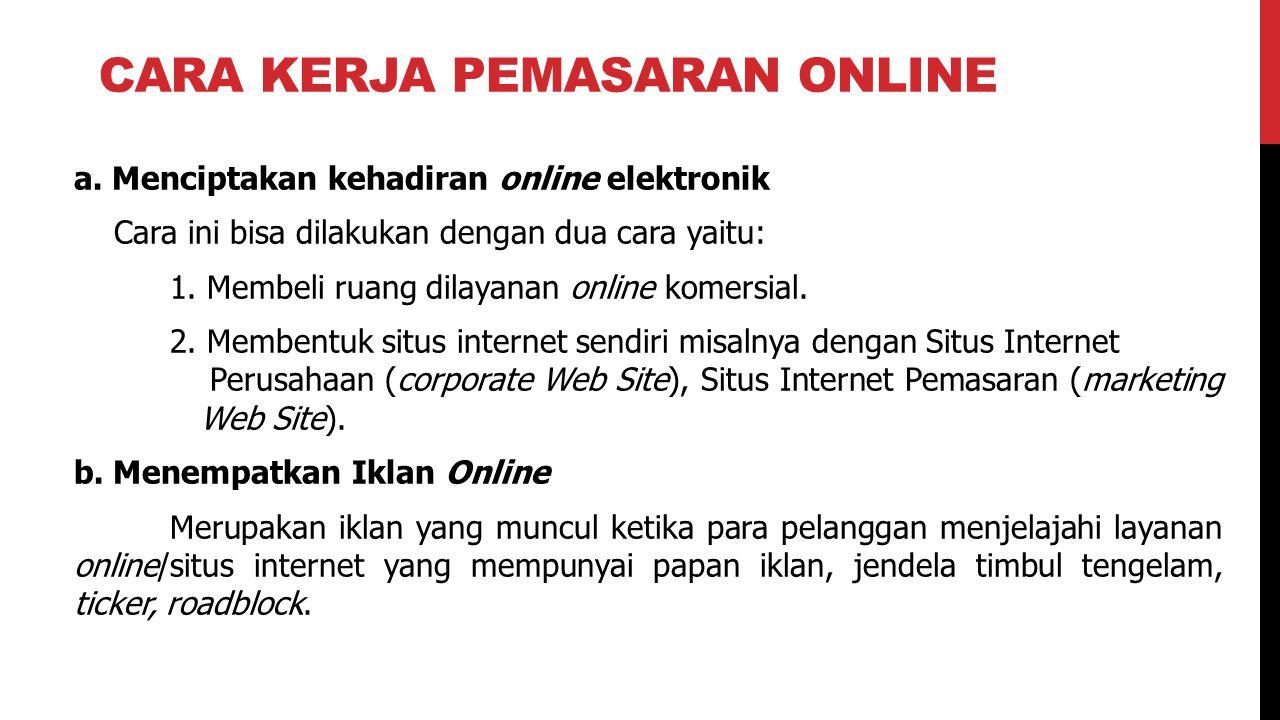 Cara kerja pemasaran online