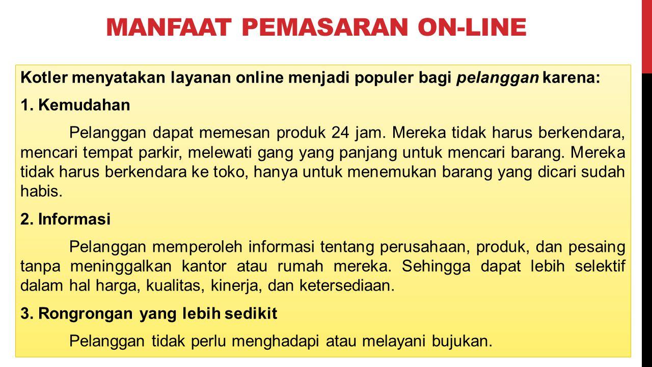 Manfaat Pemasaran on-line