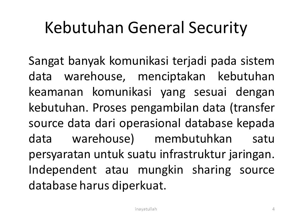 Kebutuhan General Security