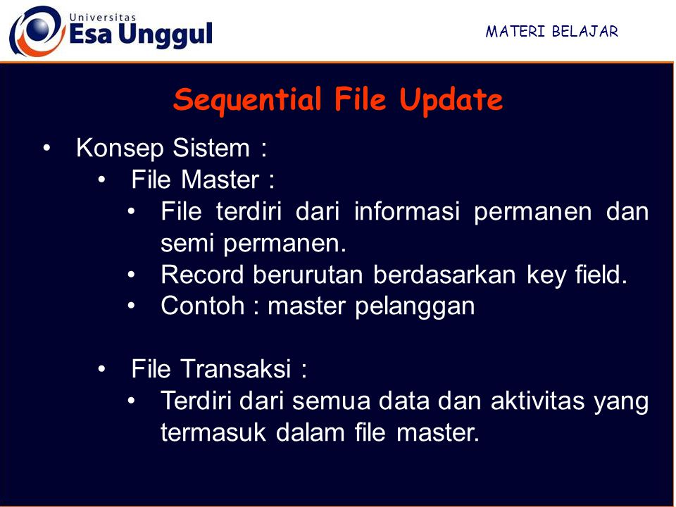 Sequential File Update