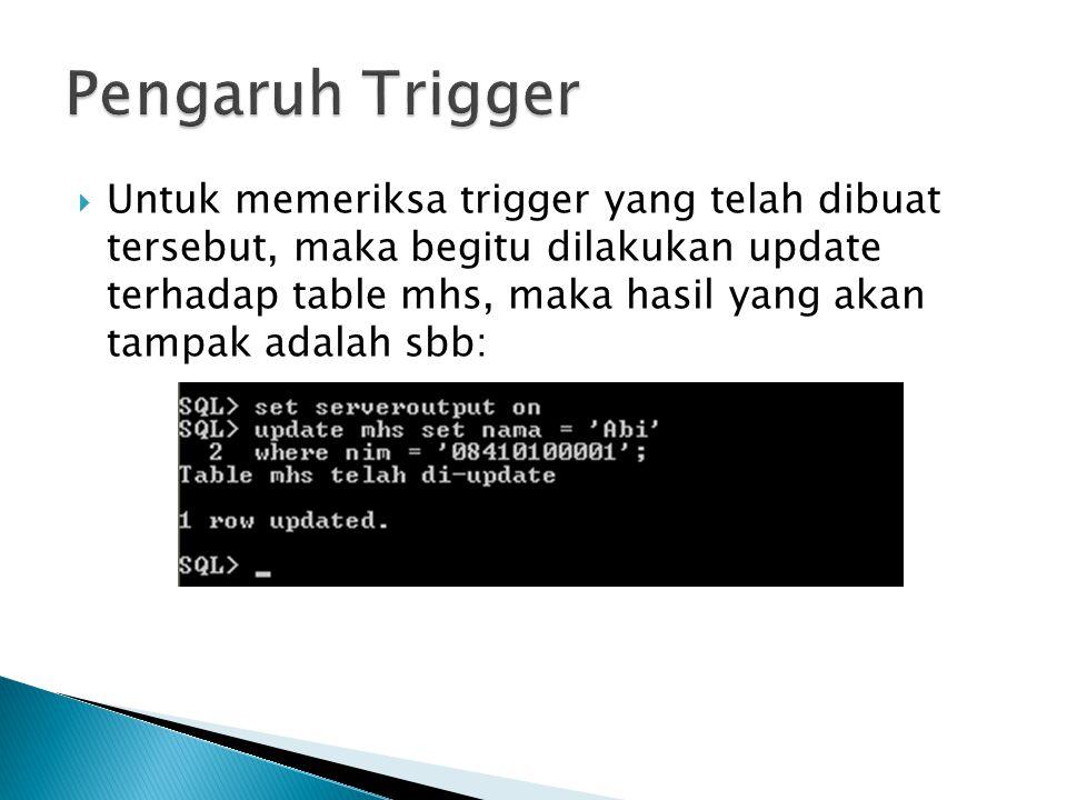 Pengaruh Trigger