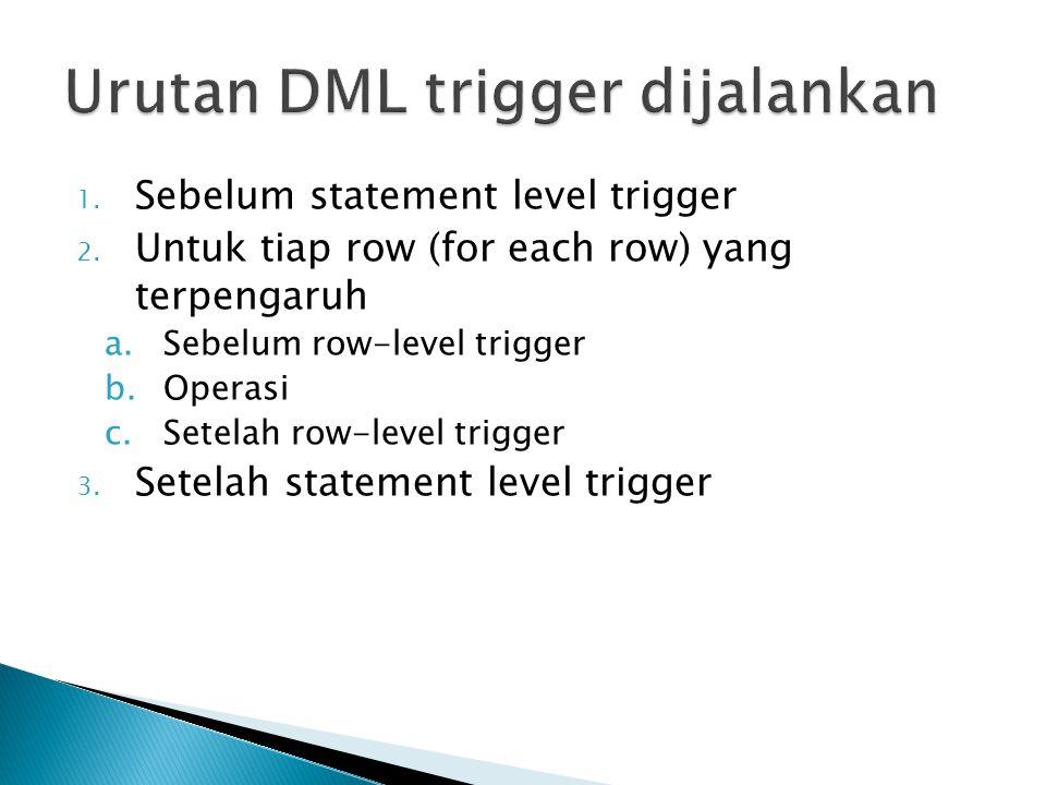 Urutan DML trigger dijalankan