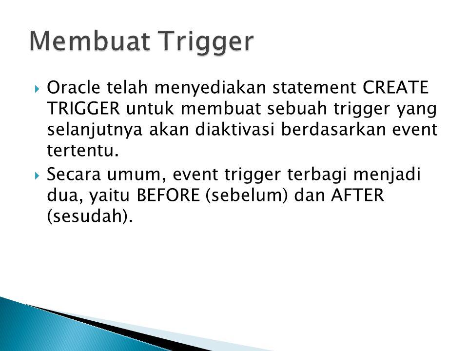 Membuat Trigger