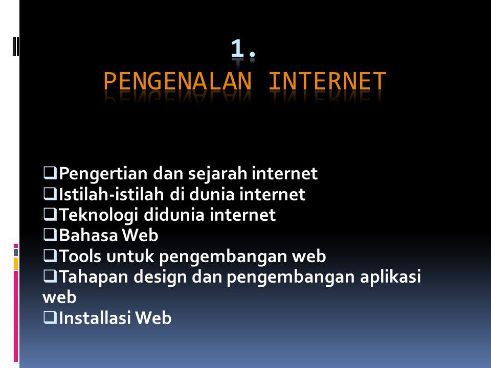 1. Pengenalan Internet Pengertian dan sejarah internet