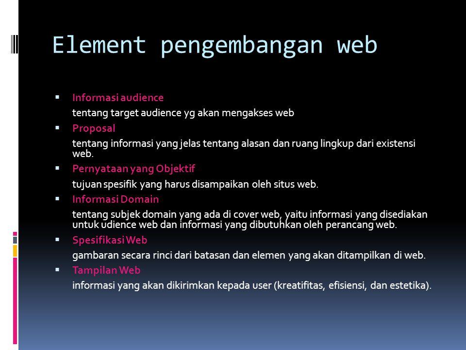Element pengembangan web