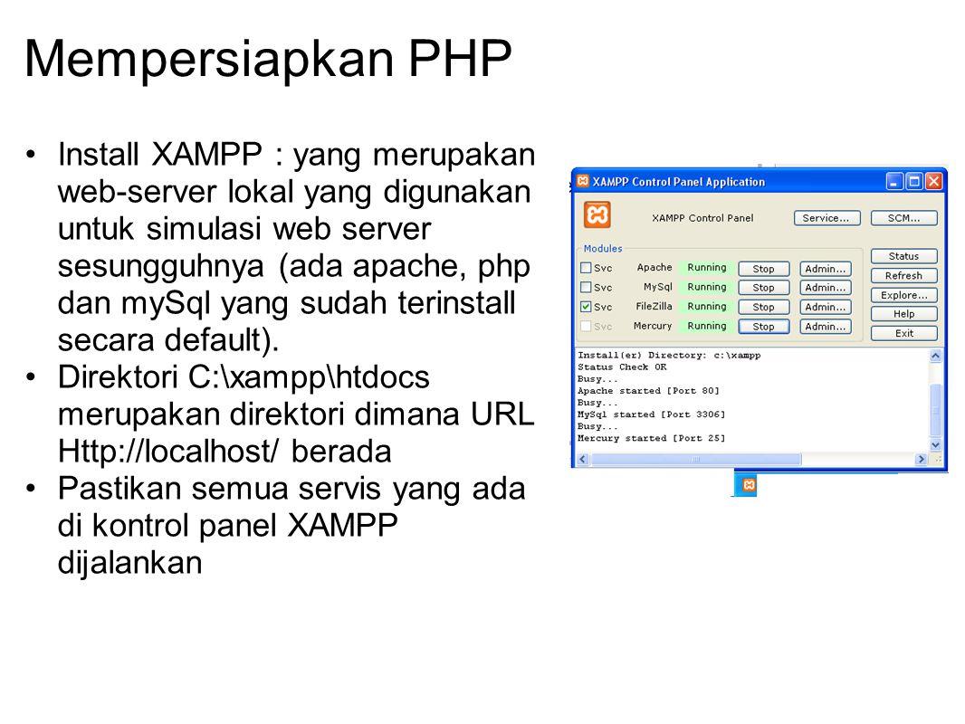 Mempersiapkan PHP