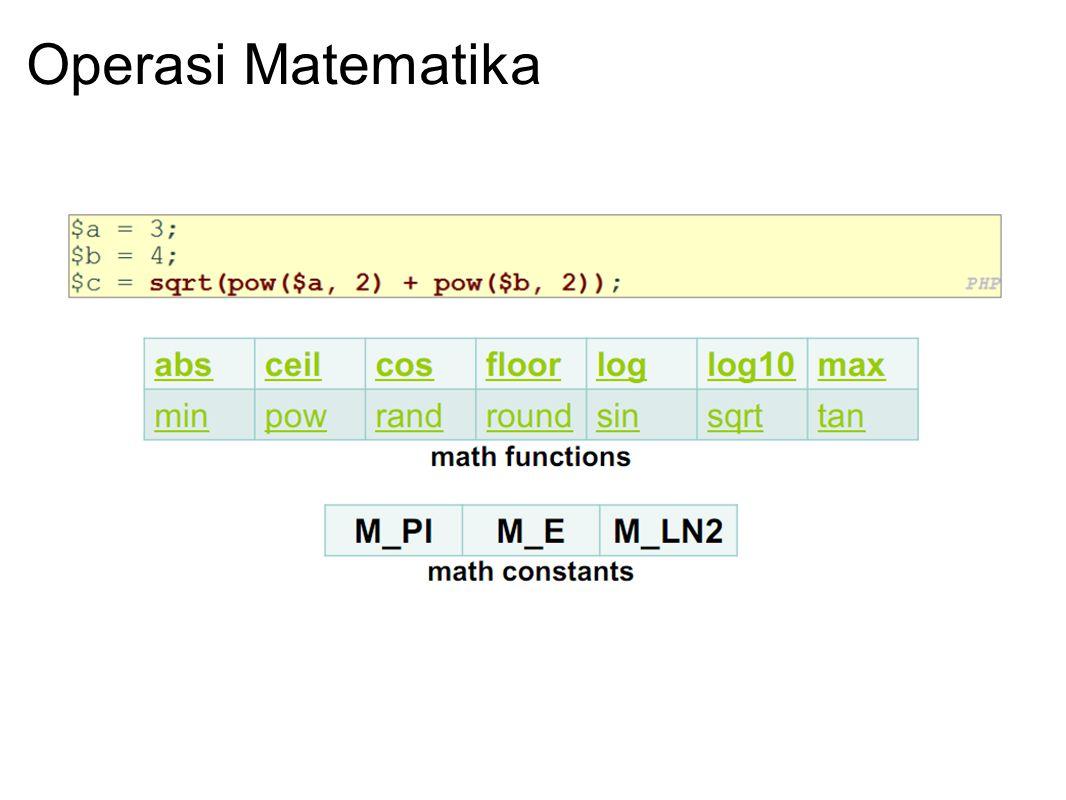 Operasi Matematika