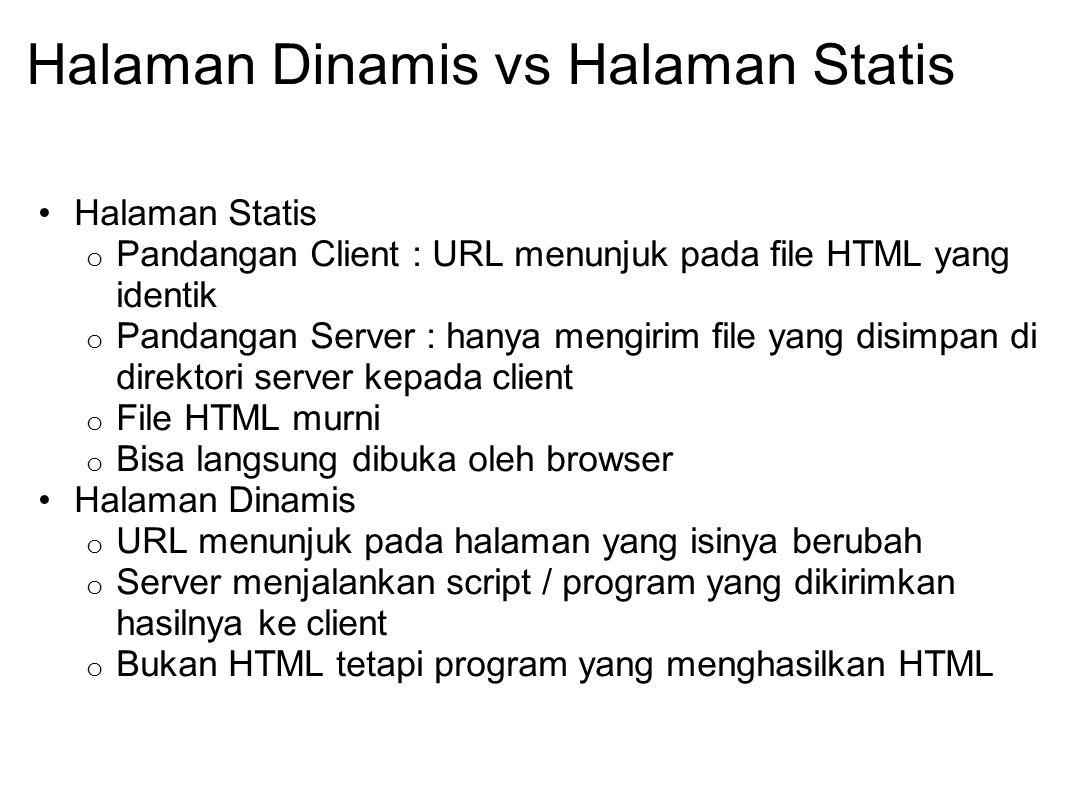 Halaman Dinamis vs Halaman Statis