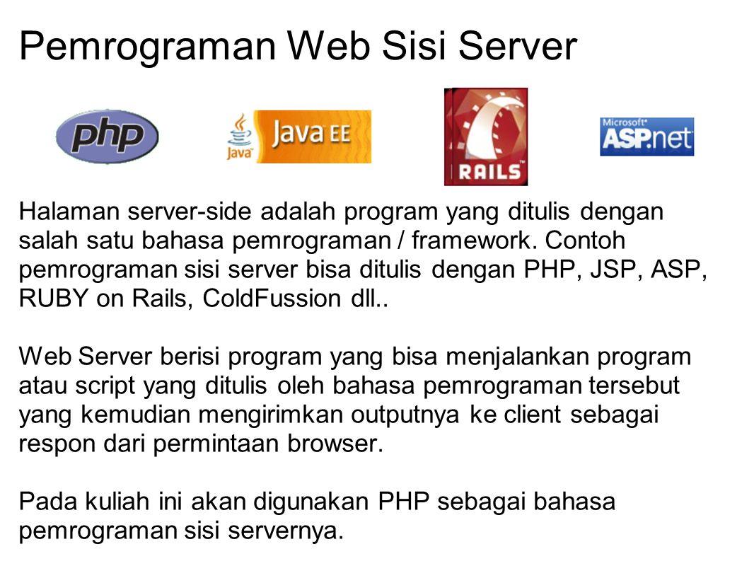 Pemrograman Web Sisi Server