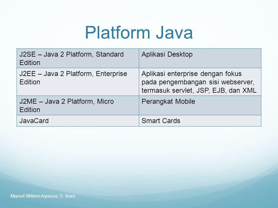 Platform Java J2SE – Java 2 Platform, Standard Edition