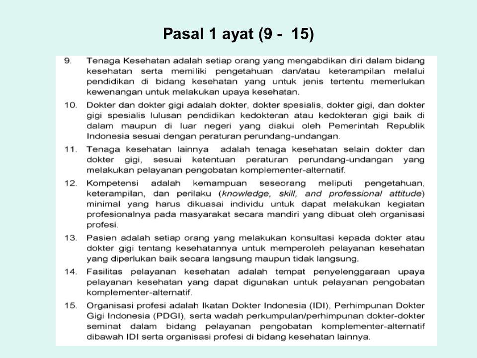 Pasal 1 ayat (9 - 15)