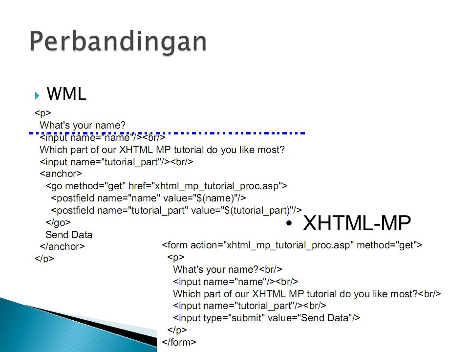 Perbandingan WML XHTML-MP