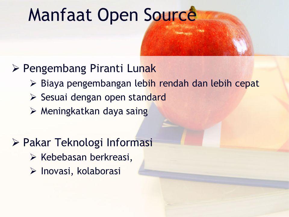 Manfaat Open Source Pengembang Piranti Lunak Pakar Teknologi Informasi