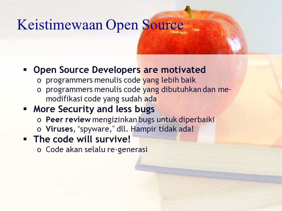 Keistimewaan Open Source