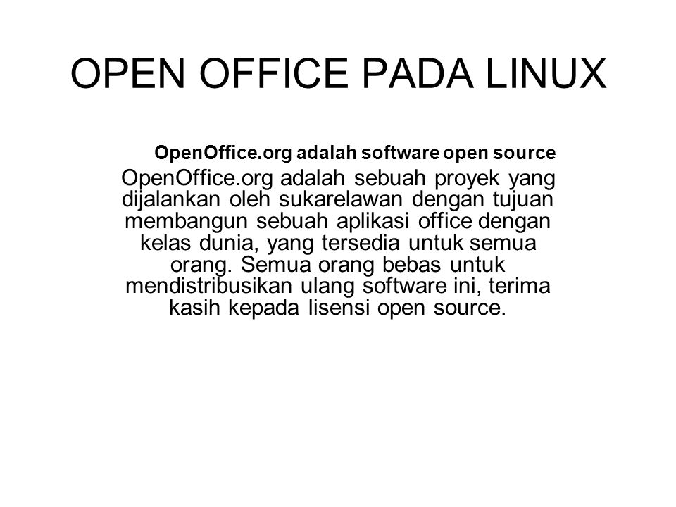 OpenOffice.org adalah software open source