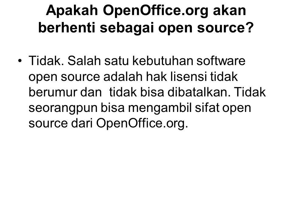 Apakah OpenOffice.org akan berhenti sebagai open source