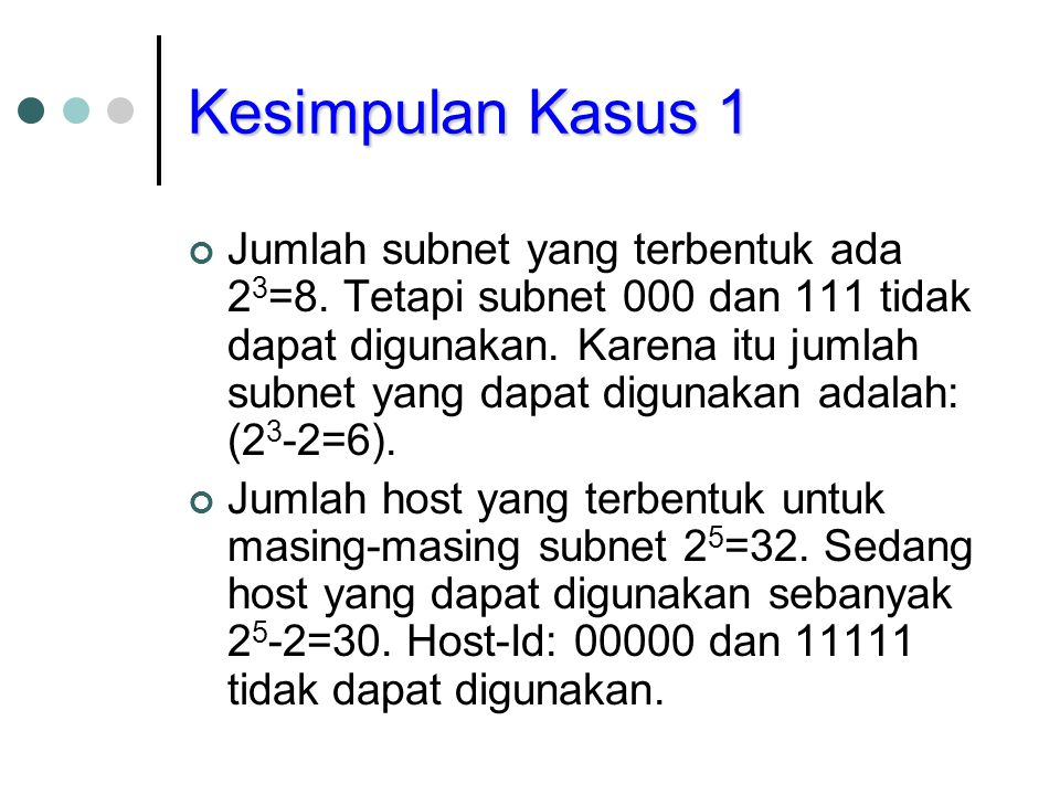 Kesimpulan Kasus 1