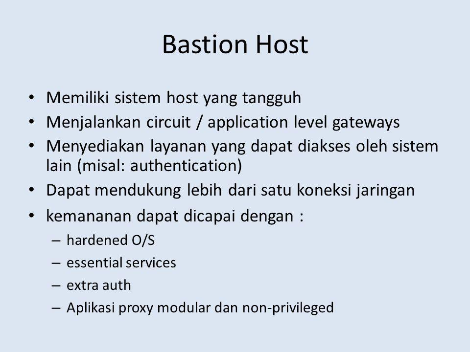 Bastion Host Memiliki sistem host yang tangguh