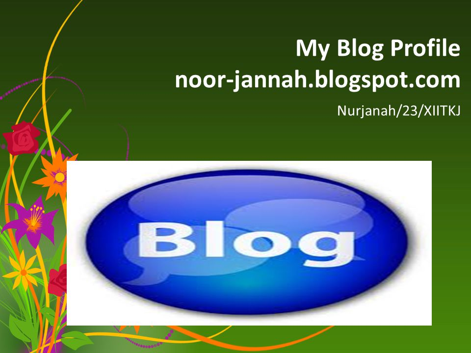 My Blog Profile noor-jannah.blogspot.com