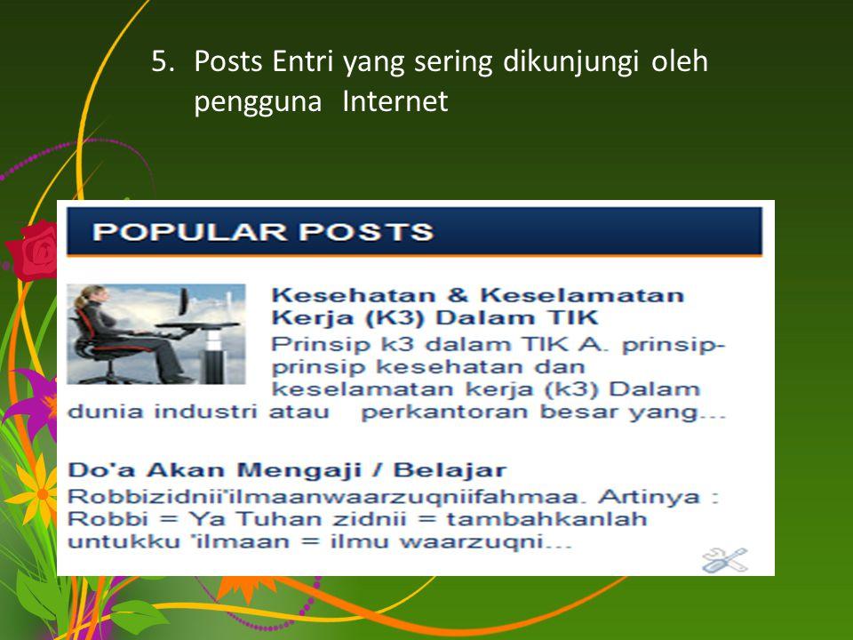 Posts Entri yang sering dikunjungi oleh pengguna Internet