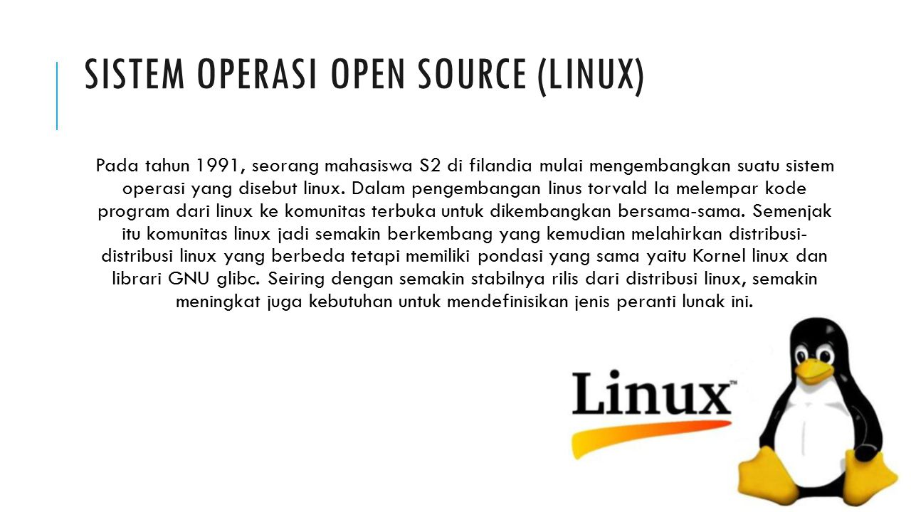 Sistem Operasi Open source (Linux)