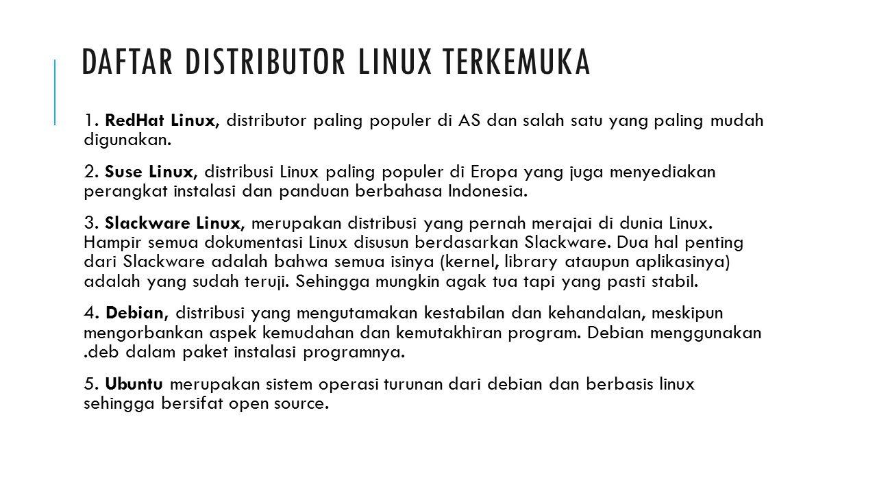 Daftar distributor linux terkemuka