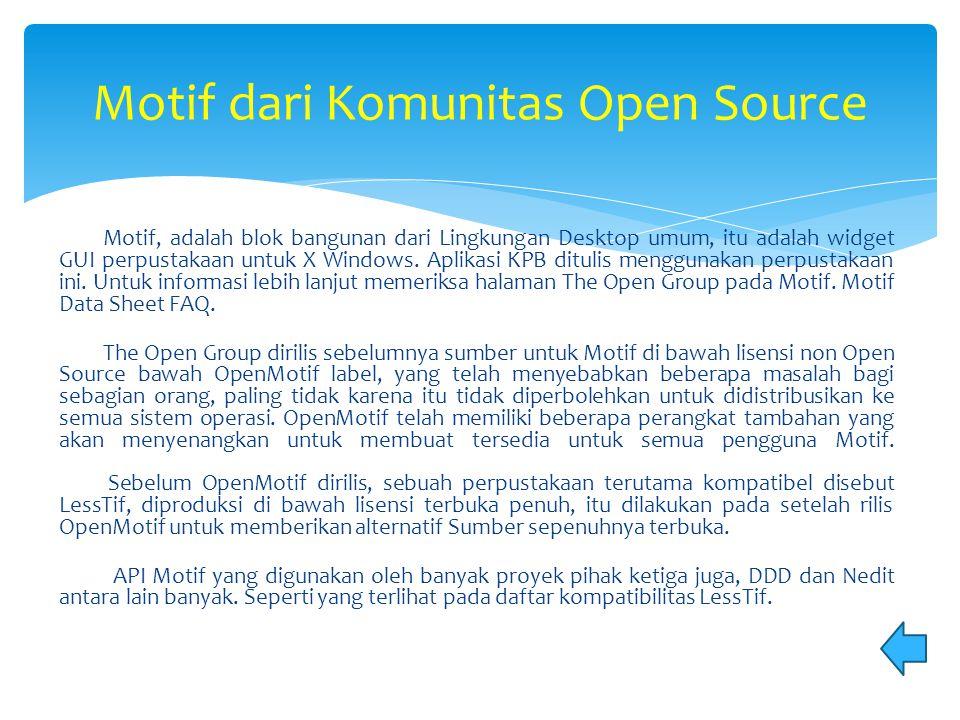 Motif dari Komunitas Open Source