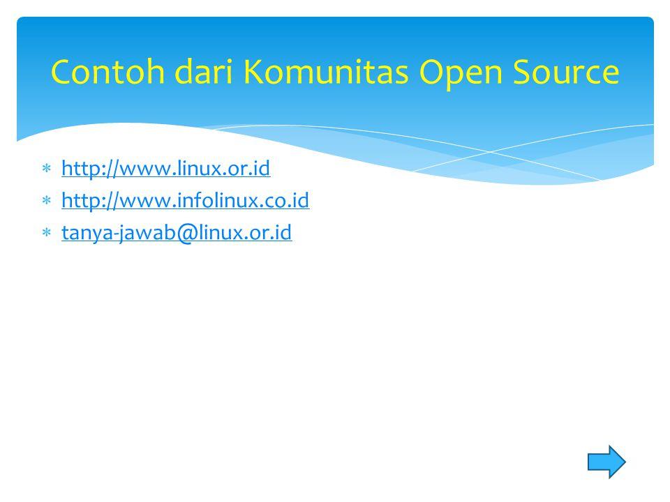 Contoh dari Komunitas Open Source