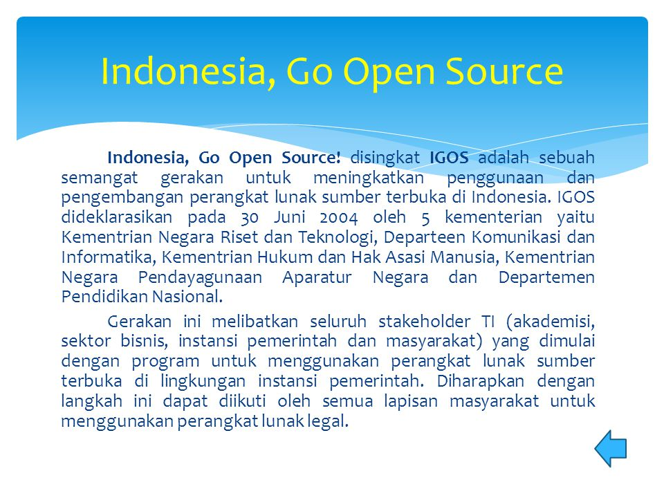 Indonesia, Go Open Source