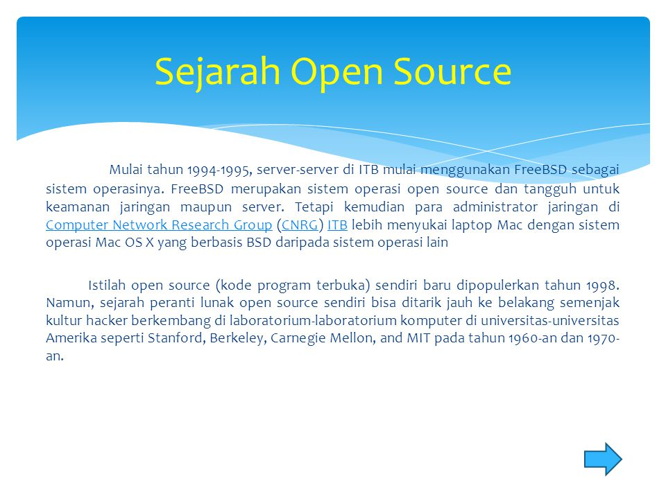 Sejarah Open Source