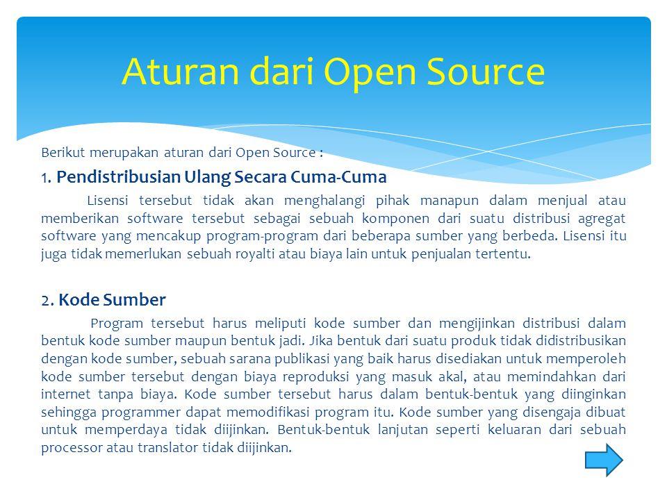 Aturan dari Open Source