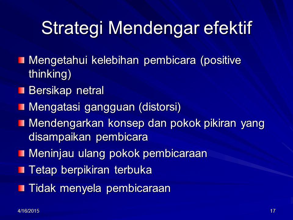 Strategi Mendengar efektif