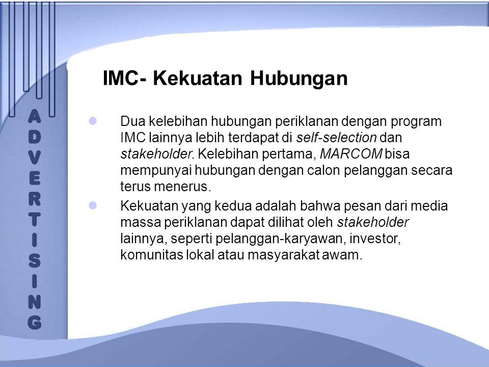 IMC- Kekuatan Hubungan