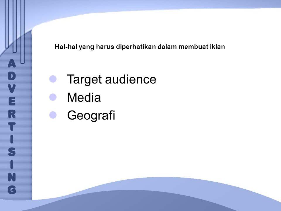 Target audience Media Geografi