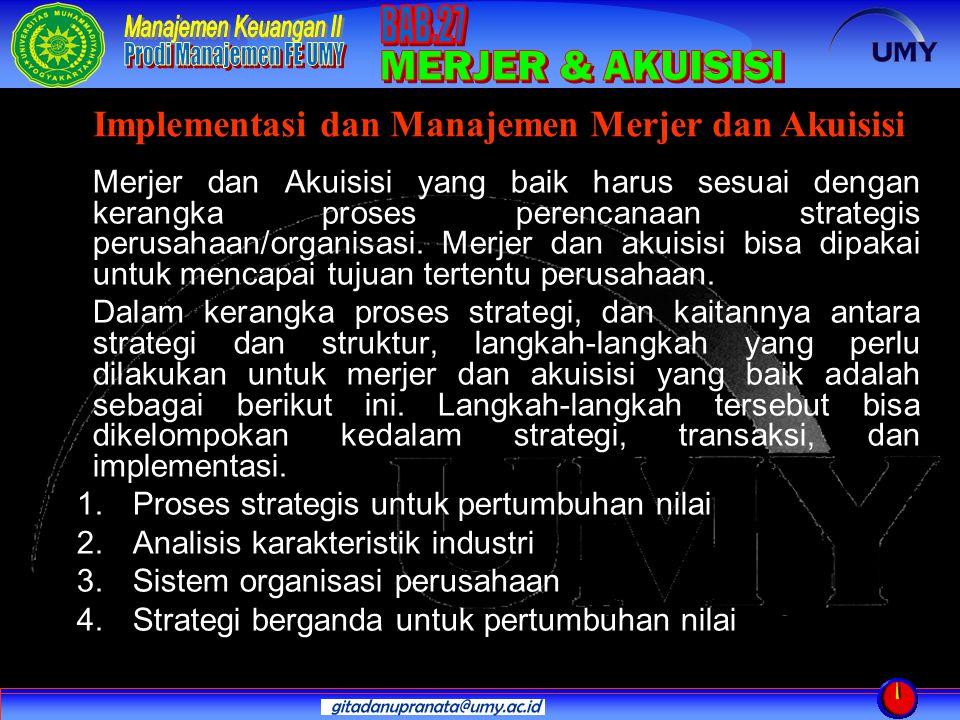 Implementasi dan Manajemen Merjer dan Akuisisi
