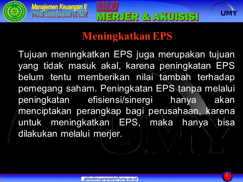 Meningkatkan EPS