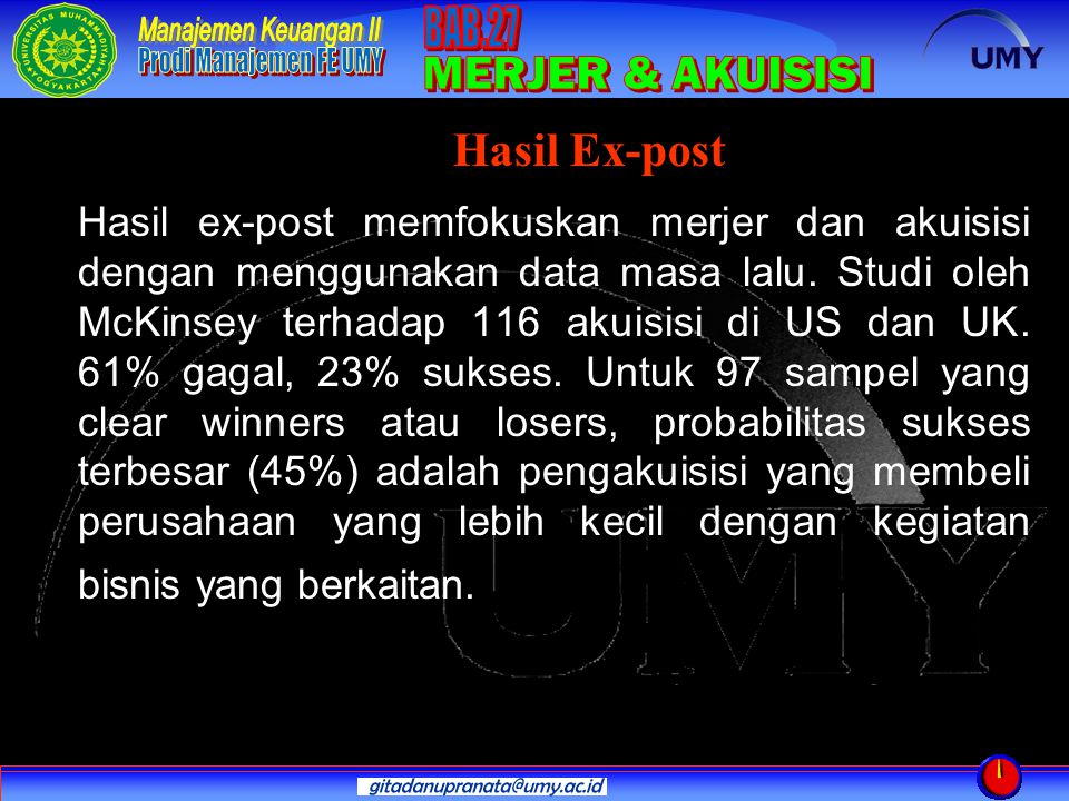 Hasil Ex-post