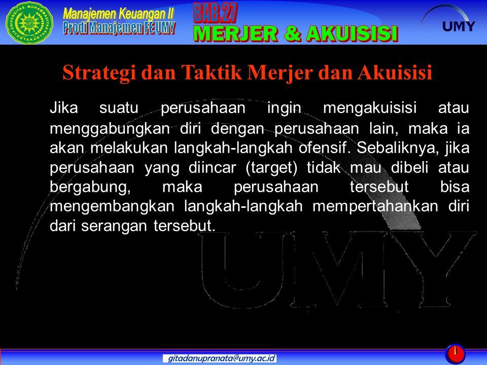 Strategi dan Taktik Merjer dan Akuisisi