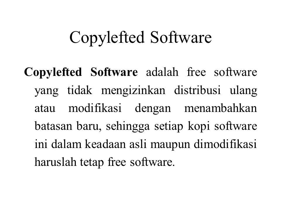 Copylefted Software