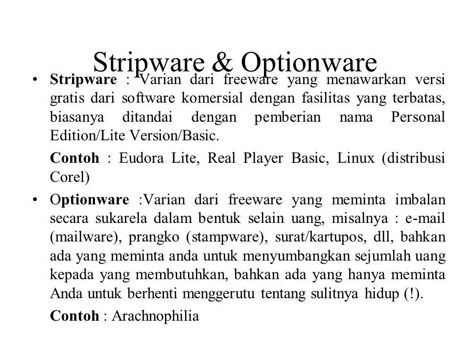 Stripware & Optionware