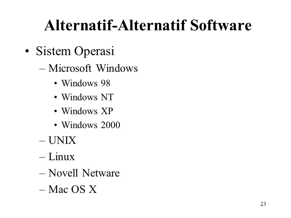 Alternatif-Alternatif Software