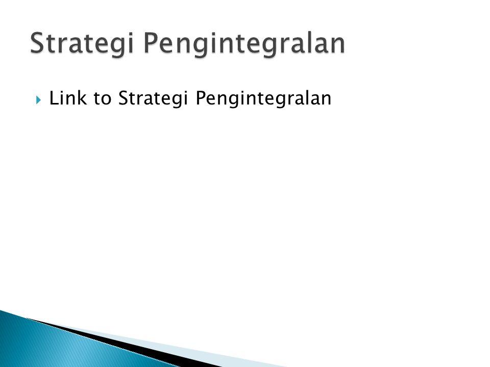 Strategi Pengintegralan