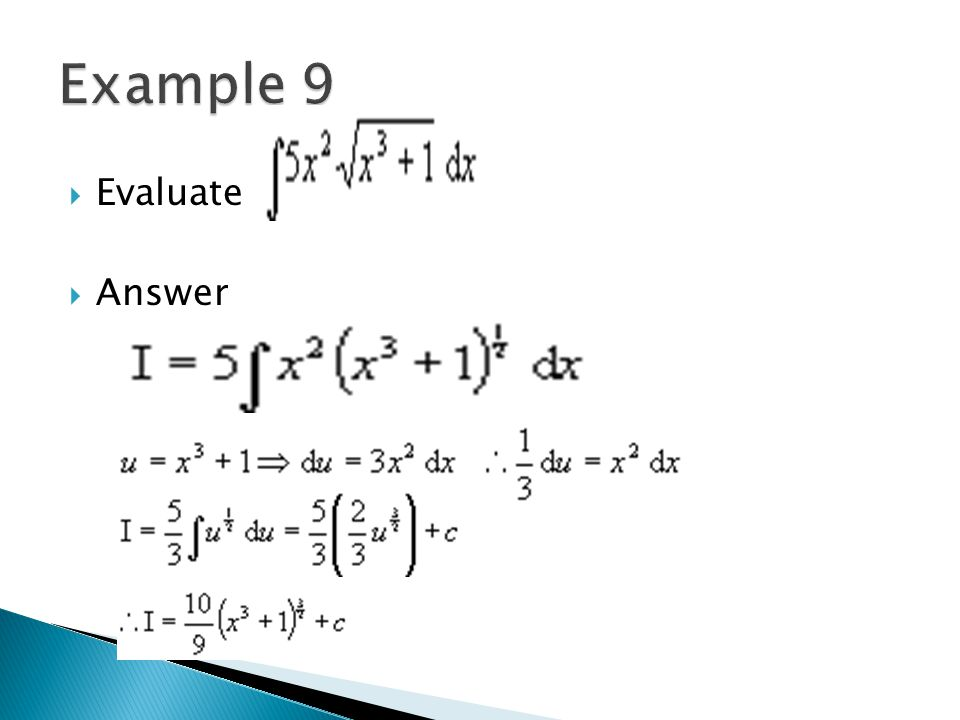 Example 9 Evaluate Answer