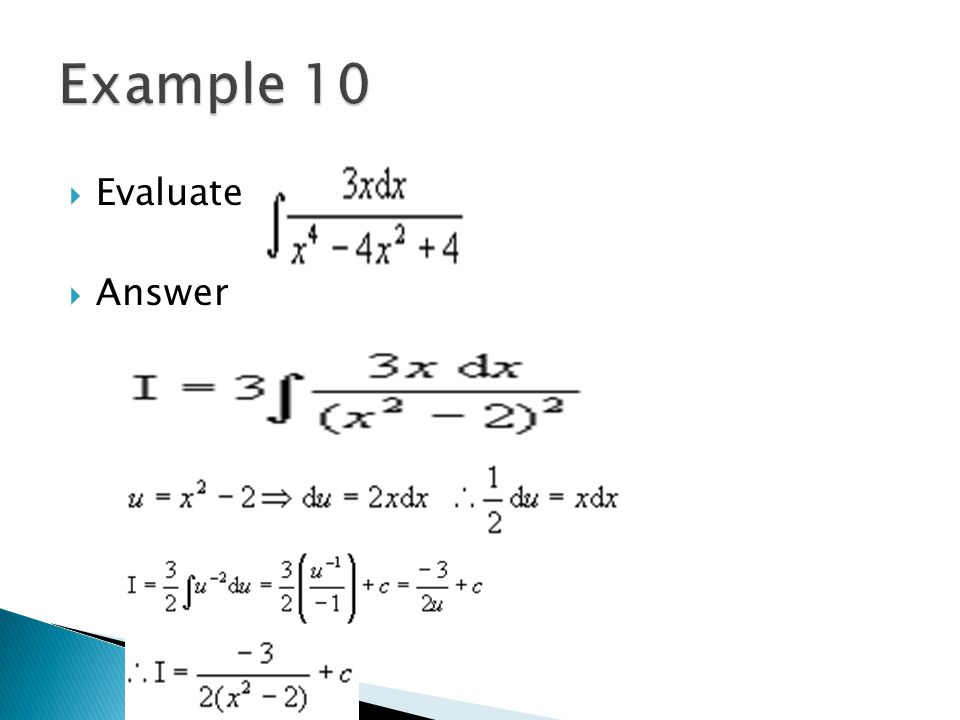 Example 10 Evaluate Answer