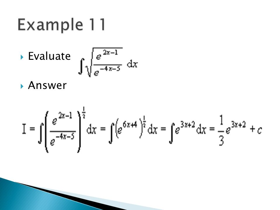 Example 11 Evaluate Answer