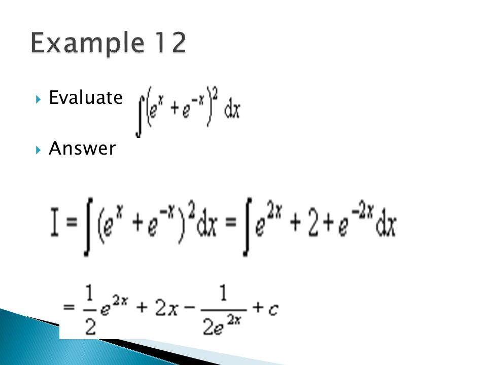 Example 12 Evaluate Answer